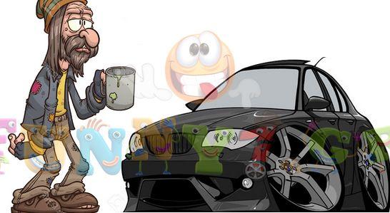Ανέκδοτο: Ο ζητιάνος και η BMW