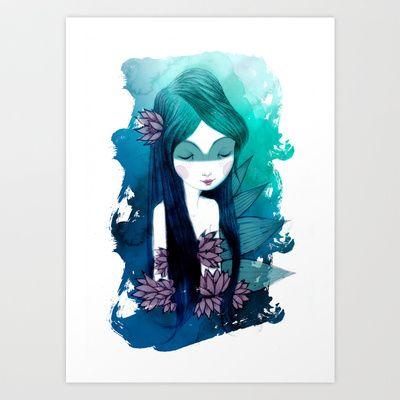 Indian+Loto+Art+Print+by+Elena+Mir+-+$19.00