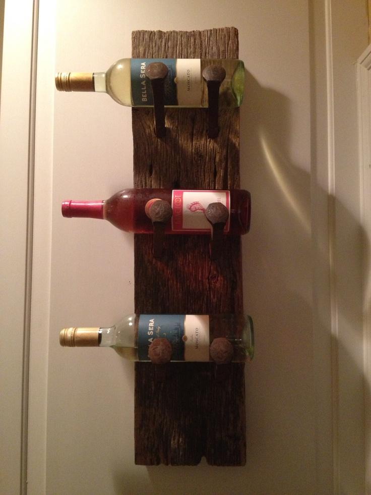 Homemade wine rack wine racks pinterest for Easy wine rack