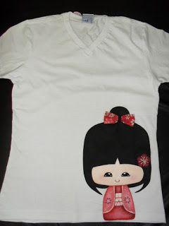 Artes Bel: Camiseta com pintura...