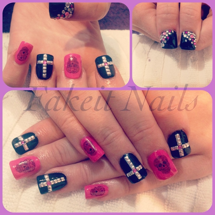 Acrylic Nail Designs With Crosses: 1000+ Ideas About Painted Acrylic Nails On Pinterest