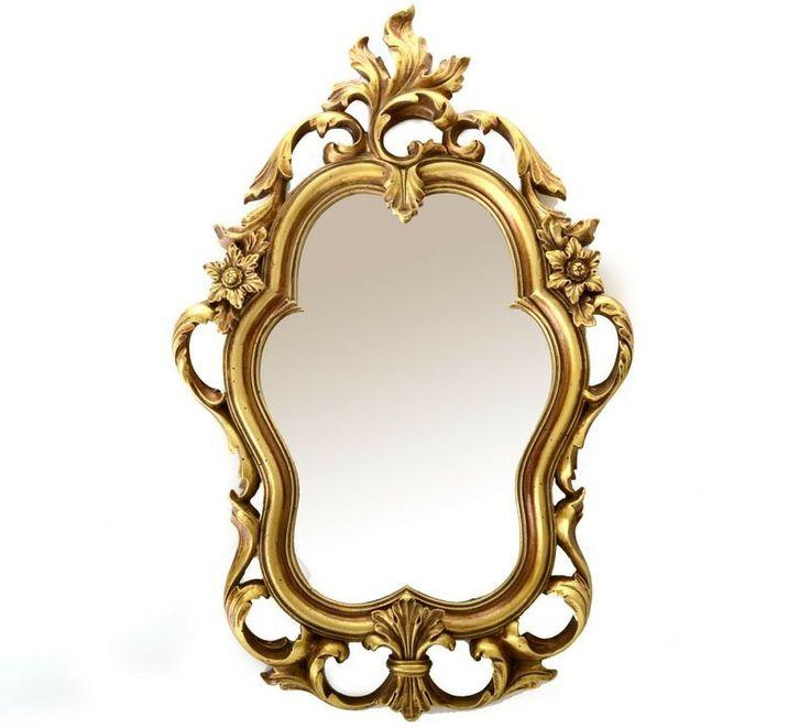 Espejo decorativo dorado retro vintage | espejos dorados