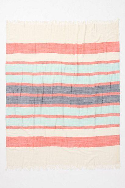 anthropologie stripe-crinkle throw