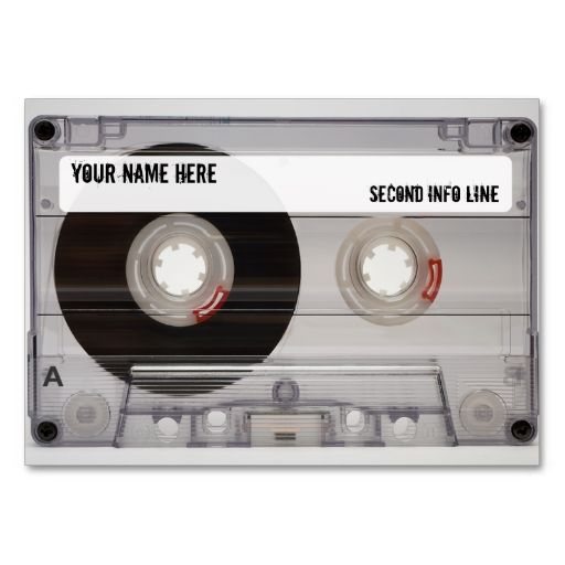 DJ Cassette Tape Mixtape Business Card Templates. I love this design! It is available for customization or ready to buy as is. All you need is to add your business info to this template then place the order. It will ship within 24 hours. Just click the image to make your own!