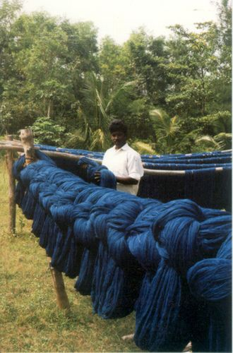 Deep Indigo Blue- Natural Indigo Dye Yarn