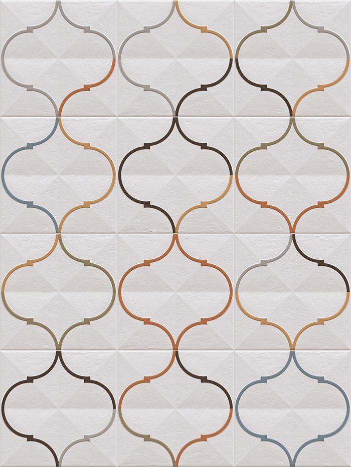 ETNIA: Oromo Multicolor - 20x20cm. | Revestimiento - Pasta Roja | VIVES Azulejos y Gres | wall tiles #hydraulic aesthetics #small format #baldosa #ceramica