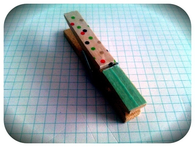 Tutoriel marque place avec pince à linge customisée