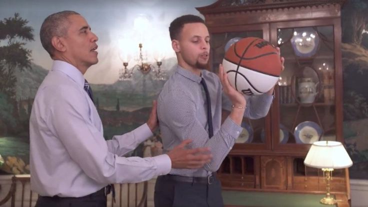President Obama helps Stephen Curry shoot hoops and fix his resume in this video promoting mentorship.