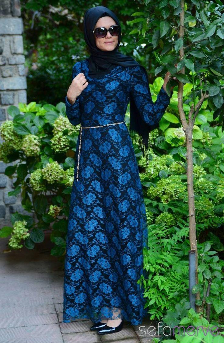 89.90 TL. Tesettür Elbise Saks #sefamerve #tesettur #tesetturgiyim #elbise#yenisezon #2014 #Hijabdress #Hijab #newseason #tesettür elbise
