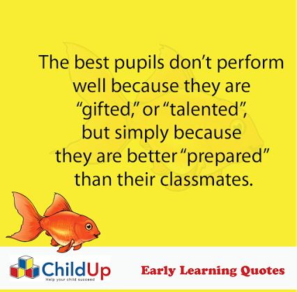 ChildUp Preschool Math Lessons: The best pupils don't perform well because they are gifted, or talented, but simply because they are better prepared than their classmates. #EarlyLearning #Preschool #Parenting