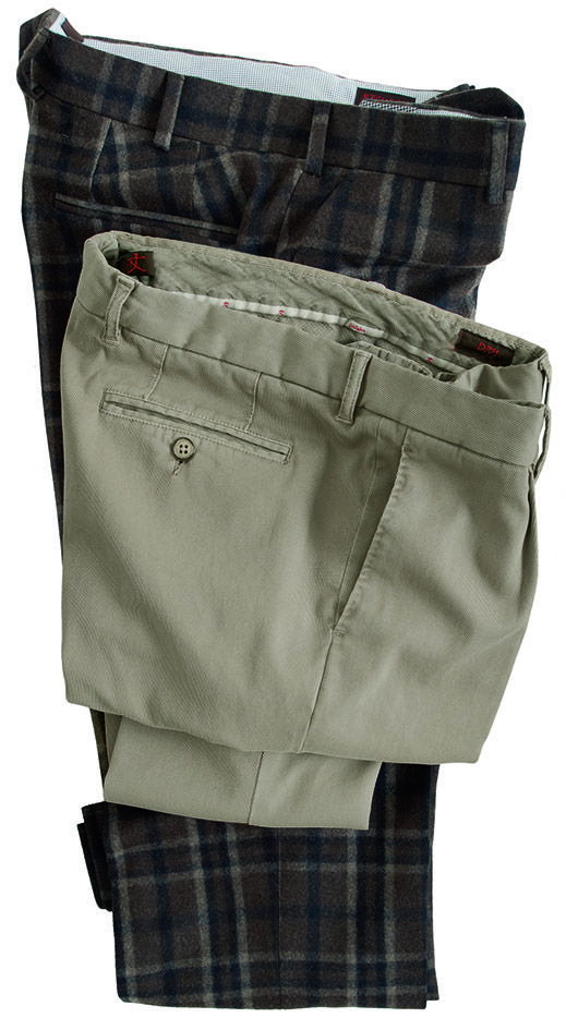 #pantaloni da uomo #trousers  modello #tartan in tela follata stretch   modello tricotina di  #cotone #menswear #fashion collezione #GioZubon #Lubiam #Al2014 Luigi Bianchi Mantova
