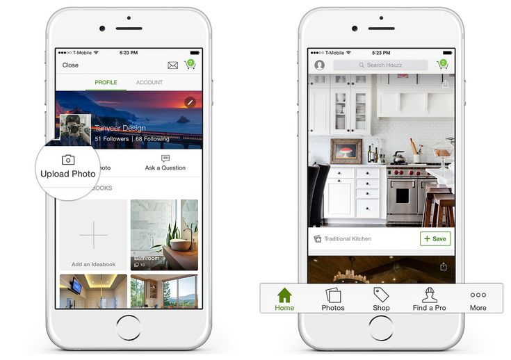 Houzz is a very handy app since it allows users to try out various furniture in-temps in pictures of your own space