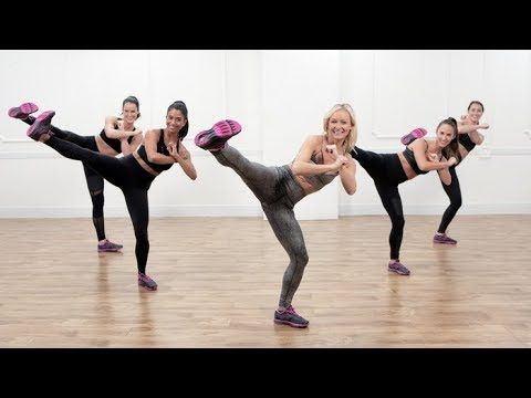 30-Minute, Kickboxing-Inspired Dance Cardio Workout - YouTube