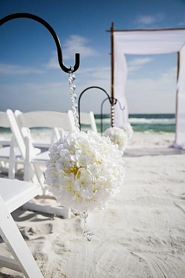pour un mariage blanc au bord de la mer