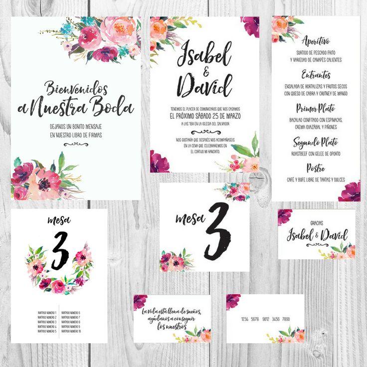 Modelos De Tarjetas De Matrimonio Para Imprimir. Invitacin De Boda ...