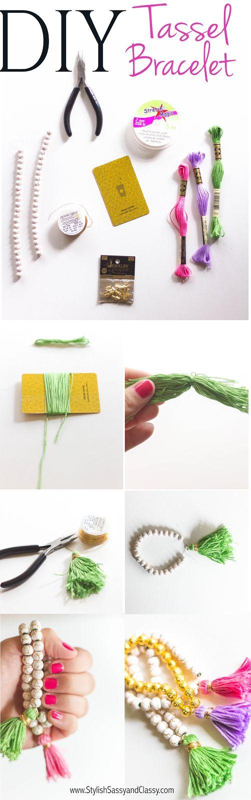 DIY Tassel Bracelets // Stylish Sassy and Classy