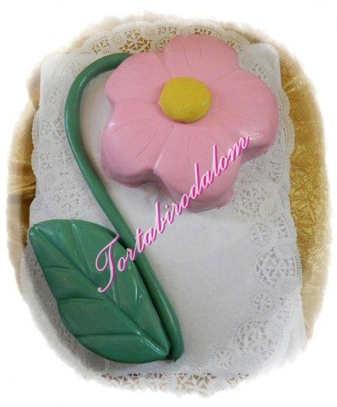 3D virág torta