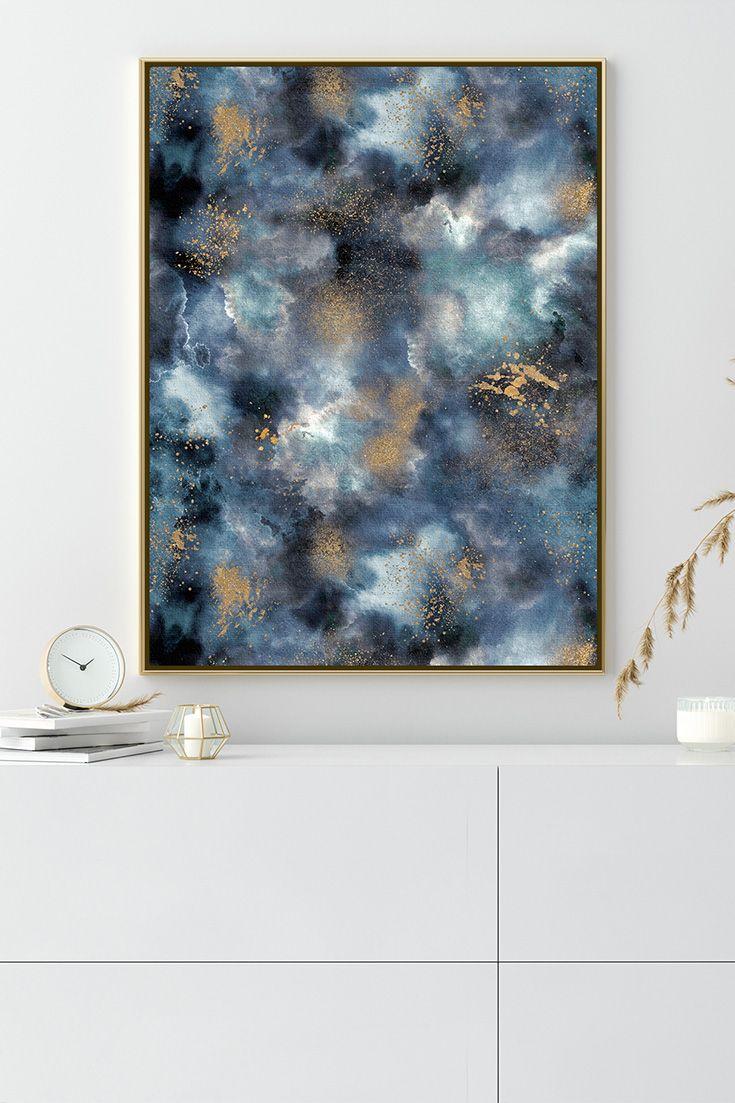 Ninola Design Marmor In Blau Und Gold Gold Poster Idee Farbe Leinwandbilder