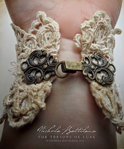 I've been waiting to create this project since joining the Tresors de Luxe  design team. A pretty wrist cuff made with those fabulous...