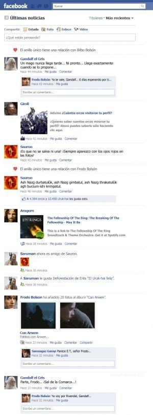 El Facebook del señor de los anillos
