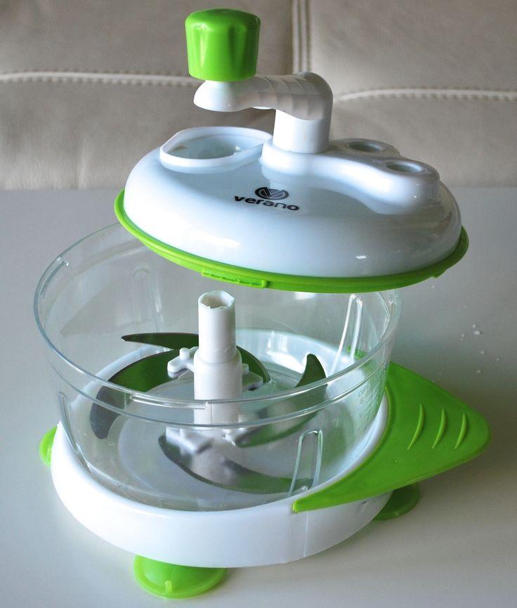 Single Blade Hand Food Mixer ~ Verano universal hand powered food chopper manual