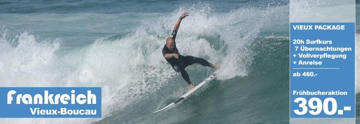 Wavetours-Surfcamp in Vieux-Boucau. Wellenreiten lernen in Frankreich.
