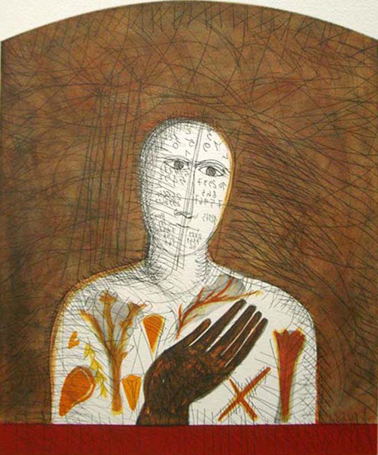 Mimmo Paladino, Botanico, X/X (60 + X), 2008 #contemporary #art #aprilfeature #ZB #etching