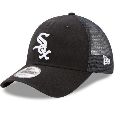 Chicago White Sox New Era Trucker Washed Original Fit 9FORTY Adjustable Hat - Black