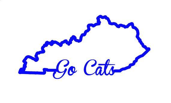 kentucky go cats vinyl decal- go big blue - kentucky wildcats
