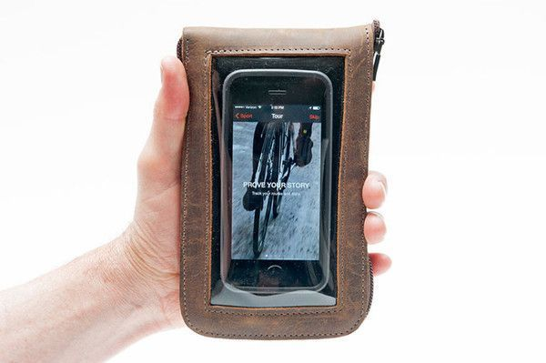 Cycle Ride Pouch with Window to see/use your phone   http://www.sfbags.com/products/cycling-ride-pouch