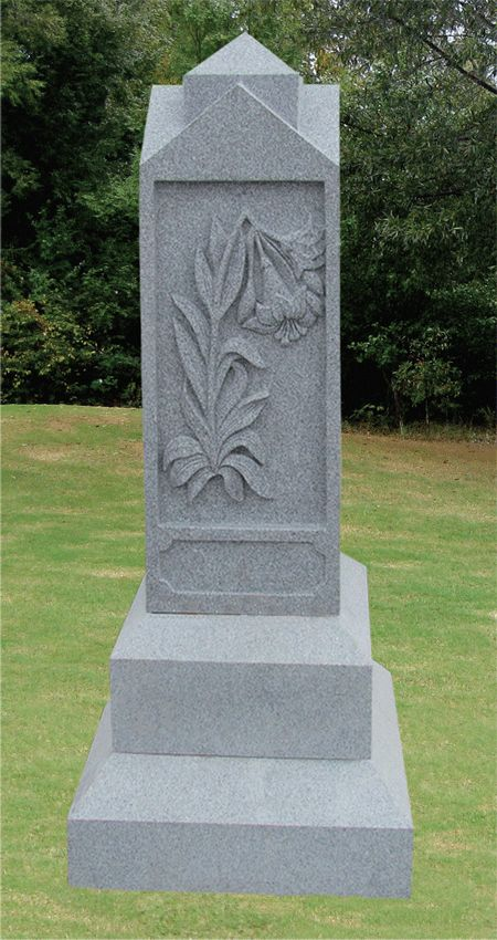 Really custom headstones cost, so -if there's no family headstone to speak of - how about an old-fashioned obelisk?  Names can be carved down the sides while money is raised for individual footstones.