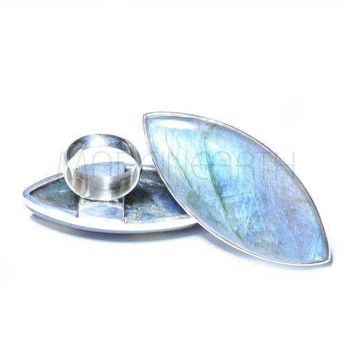 Labradorite rings…. big, chunky and blue!