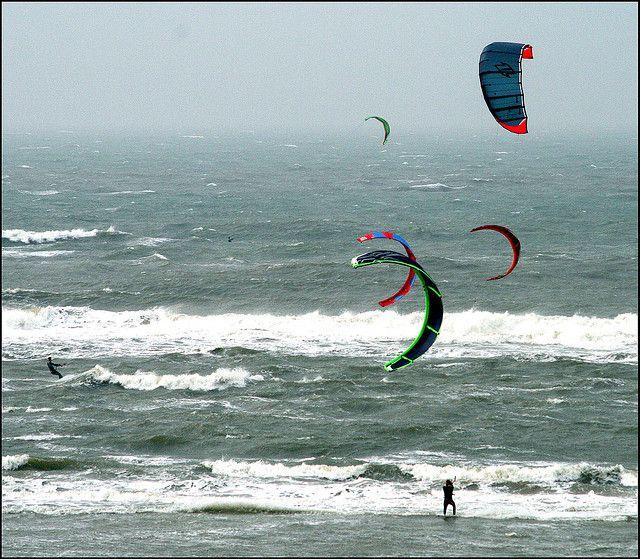 Kite surfing Egmond aan Zee - the Netherlands.