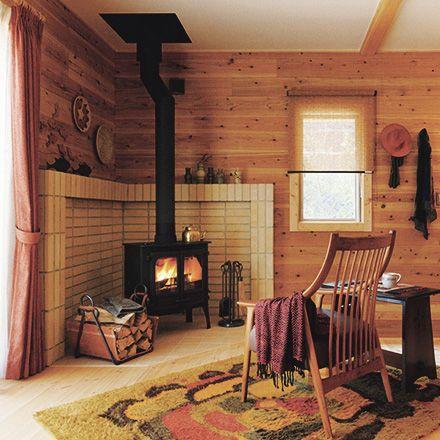 あきつログハウス 季感の家|ログハウスのbess Bess Pinterest Hygge Stove