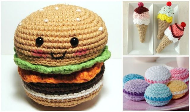 Amigurumi en forma de comida , divertida forma de tejer