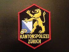 Kantonspolizei (Zurich, Switzerland) police patch