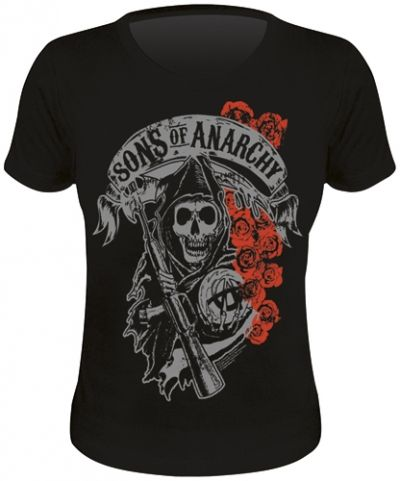 Tee Shirt Femme SONS OF ANARCHY - Reaper & Roses