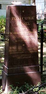 Grave of Fanny Hensel in Berlin ~ Fanny Hensel died in Berlin in 1847 of complications from a stroke suffered while rehearsing one of her brother's oratorios, The First Walpurgis Night. Felix himself died less than six months later from the same cause (which was also responsible for the deaths of both of their parents and of their grandfather Moses),[11] but not before completing his String Quartet No. 6 in F minor, written in memory of his sister.