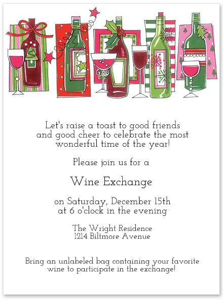 Wine Exchange Party This could be a new Christmas Tradition at your house! Start your WinePoynt profiles and share lists with your friends, so that you know what to get them!