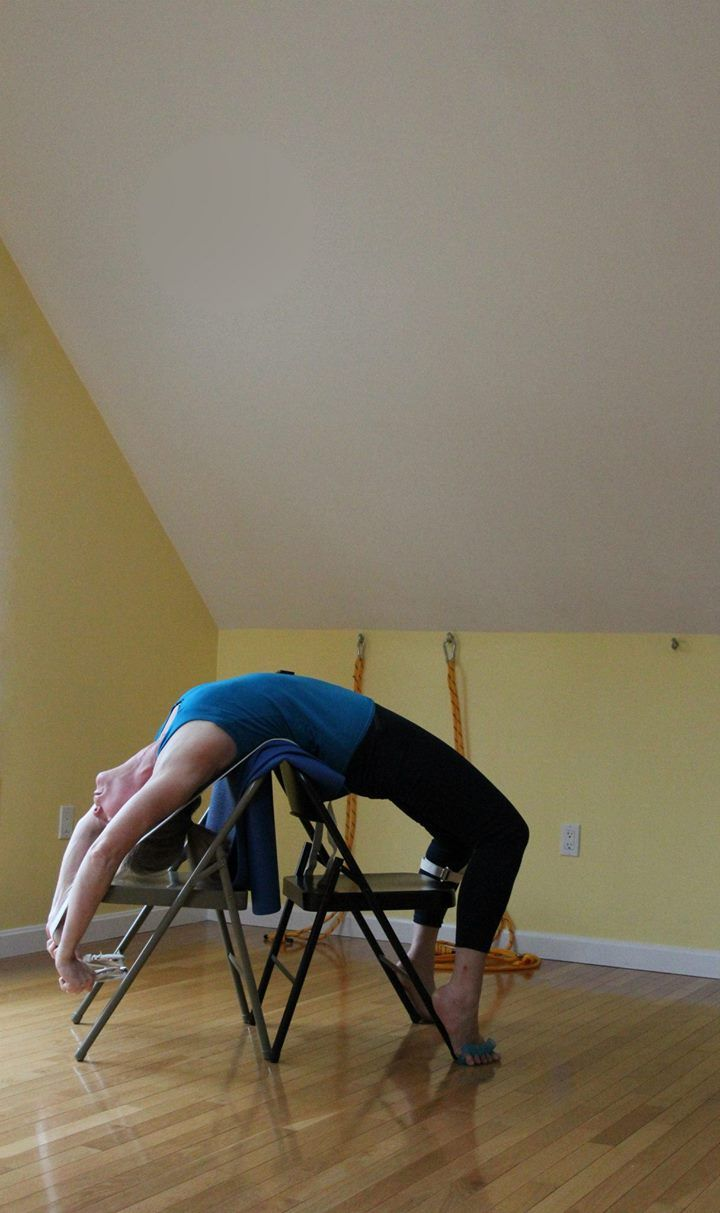 Urdhva dhanurasana iyengar yoga chair back bends pinterest for Chaise yoga iyengar