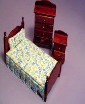 Wooden doll furniture for dollhouse miniature adult dolls.