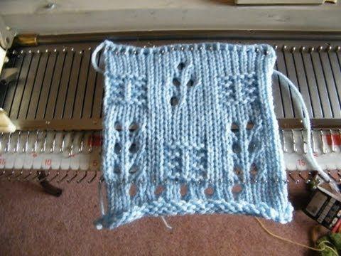 Patchwork Machine Knit Design - YouTube