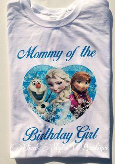 Frozen birthday  Shirt Frozen Birthday by DivaStylesBowtique