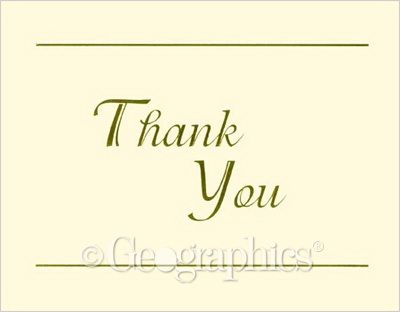 Ivory Gold Foil, Thank You Cards w/ Envelopes, 24/PK