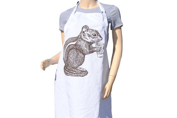Kitchen Apron  Brown Chipmunk Apron  Crafting by HeapsHandworks  #apron #aprons #kitchenaprons #kitchenapron #bbqapron #bbqaprons #cooksapron #cooksaprons #cooks #chef #baking