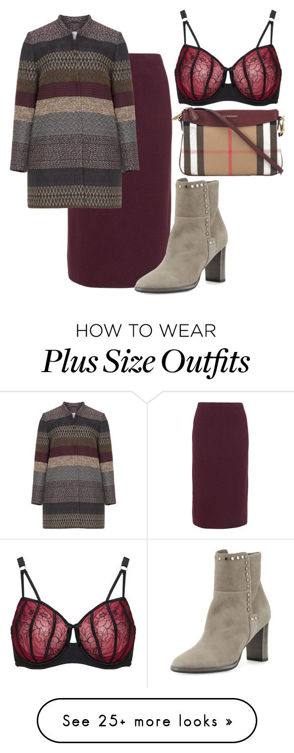 """""""plus size ava"""" by aleger-1 on Polyvore featuring Isolde Roth, Ashley Graham, Jimmy Choo and Burberry"""