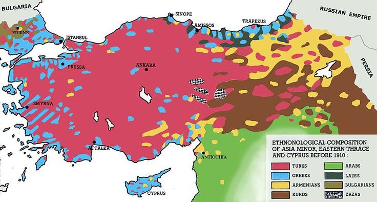 Ethnic composition of Asia Minor, Eastern Thrace and Cyprus before 1910.