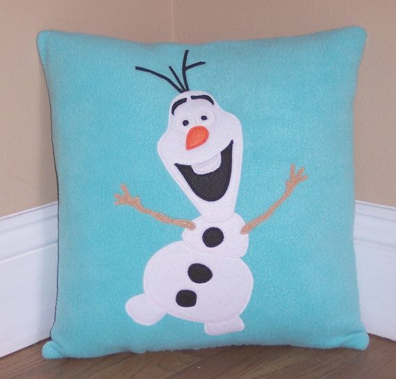 Olaf Pillow by My3SillyMonkeys on Etsy, $24.00