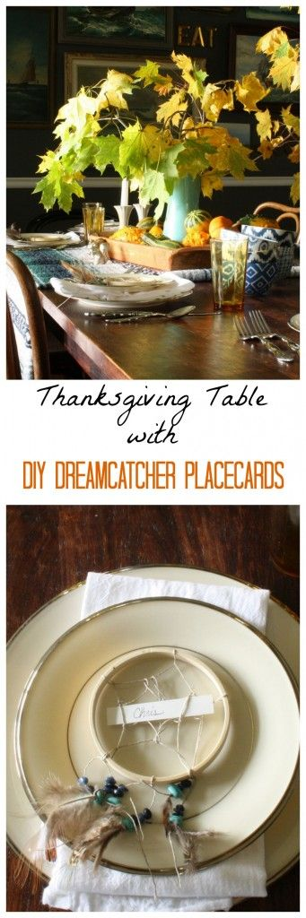 Place cards thanksgiving table and diy and crafts on for Diy thanksgiving table place cards