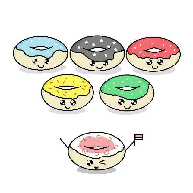 Olympics is start. Go Indonesia . . . . #olympics #Rio2016 #olimpiade #olimpiadas #Rio #brazil #art #fanart #autolikes #likeforlike #picoftheday #drawing #donut